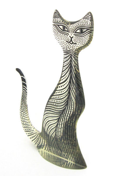 Abraham Palatnik lucite cat sculpture - huge..