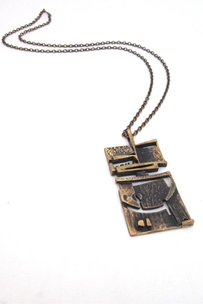 Jorma_Laine_Finland_vintage_bronze_abstract_pendant_necklace