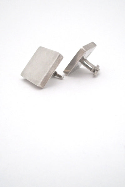 detail la Cucaracha Taxco Mexico vintage sterling silver large square cufflinks