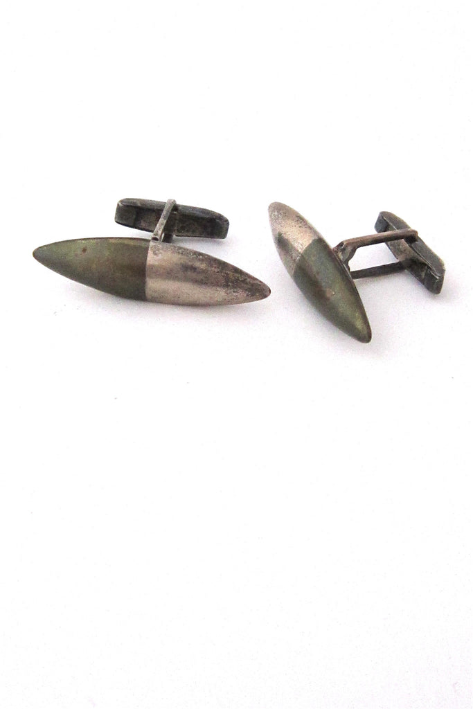 Los Castillo, Mexico Modernist metales Castillo silver and brass cuff links