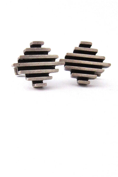 vintage Mexico sterling silver bars cufflinks