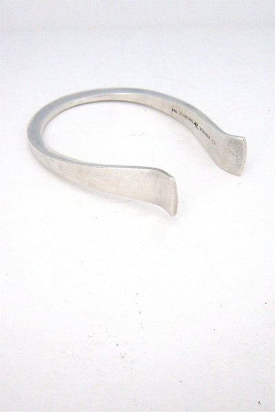 PLUS Designs silver cuff by Erling Christoffersen