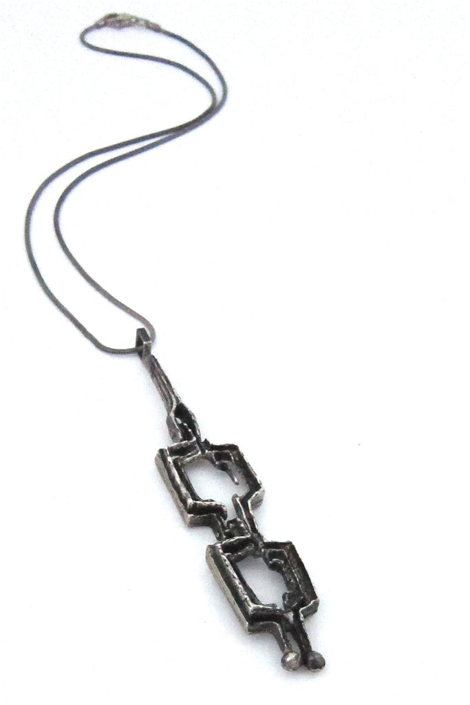 relo, Austria vintage brutalist silver kinetic necklace