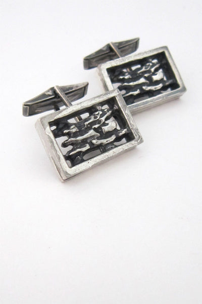 Robert Larin Canada modernist pewter cuff links