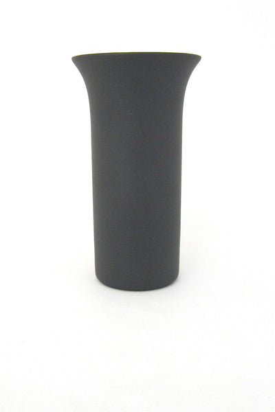 Rosenthal Germany porcelaine noire (black porcelain) small flared vase