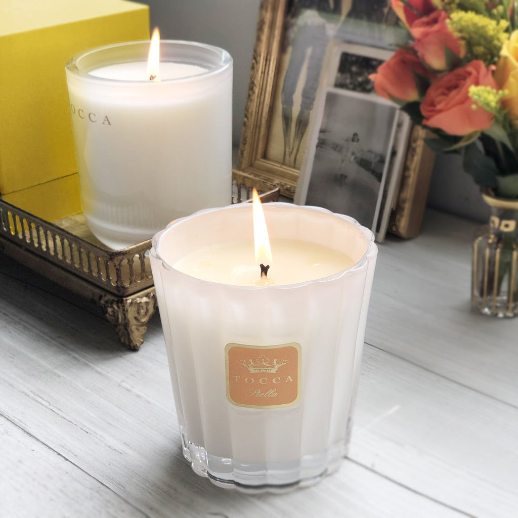 Tocca Home Fragrance Stella & Tuscany Candle Duo