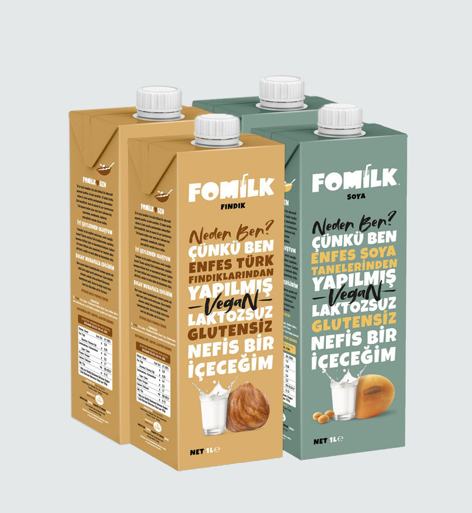 Fındık 1Lx2 ve Soya 1Lx2 / Hazelnut 1Lx2 and Soy 1Lx2