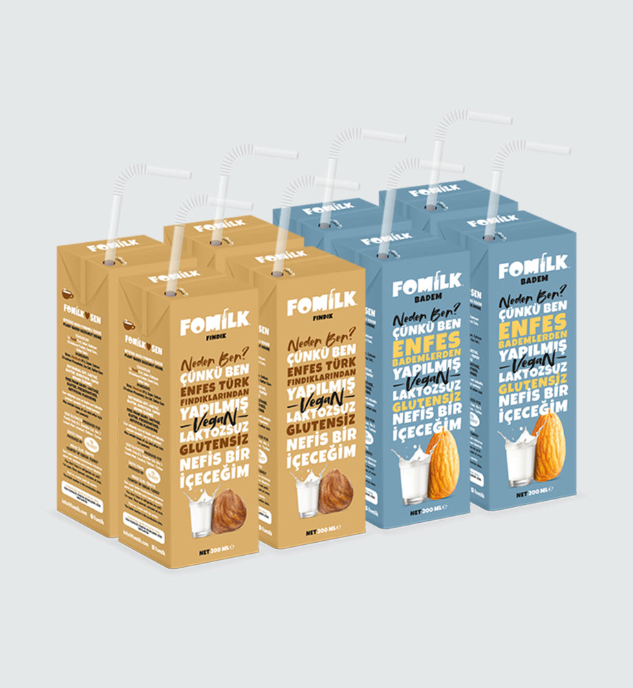 Fındık ve Badem / Hazelnut and Almond 200ml x 8