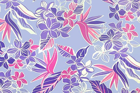pink and purple floral on lavender