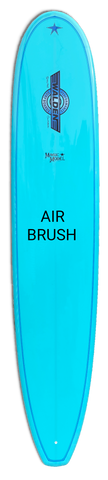 blue air brushed board