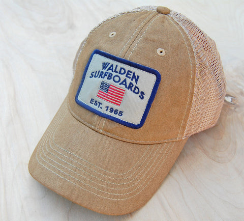 Stars and Stripes trucker : khaki