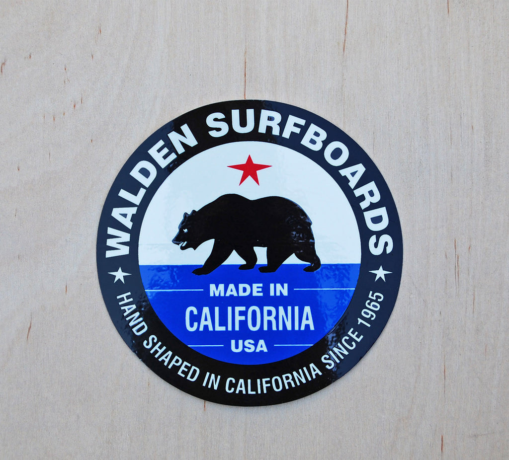 Walden Made in Ca. sticker 5/pack