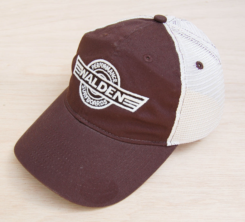 Walden Logo Trucker Brown