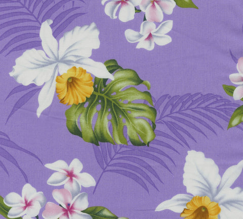 White Orchids Fabric
