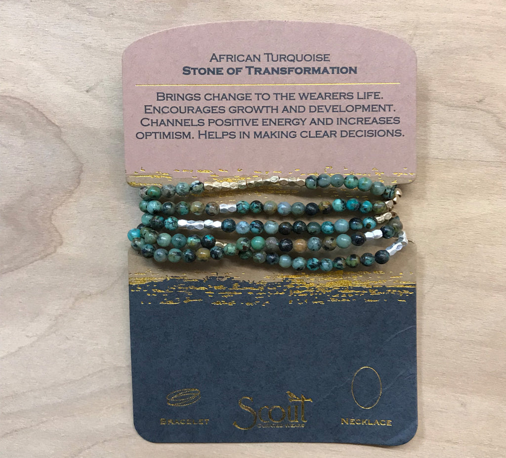 Scout wrap: African Turquoise