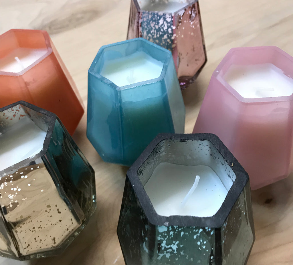 SALE Prism candle: rosey posey