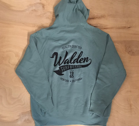 Banner logo lined hoodie:Green 2