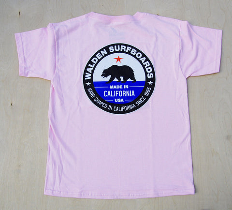 Kid's Made in Ca. t-shirt : Pink