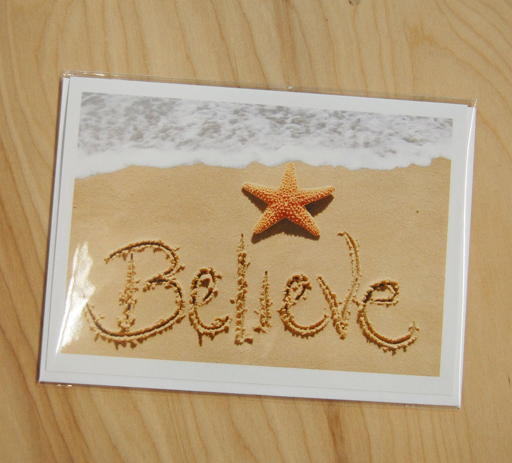 Sand Cards : Believe