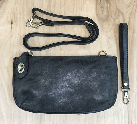 Wristlet clutch : Black Lux