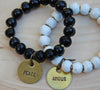 Simbi clay bead bracelet : black