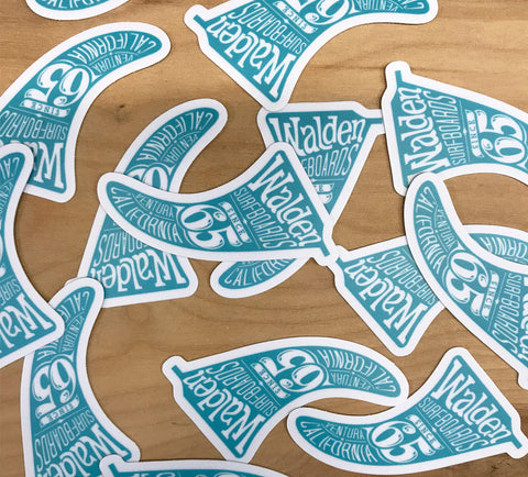 Walden Small Fin Sticker pack
