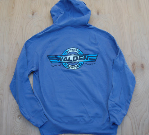 Performance logo lined hoodie:Blue