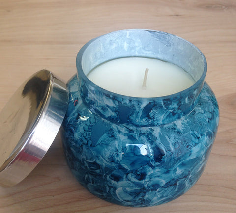Capri Blue  Candle : Watercolor indigo
