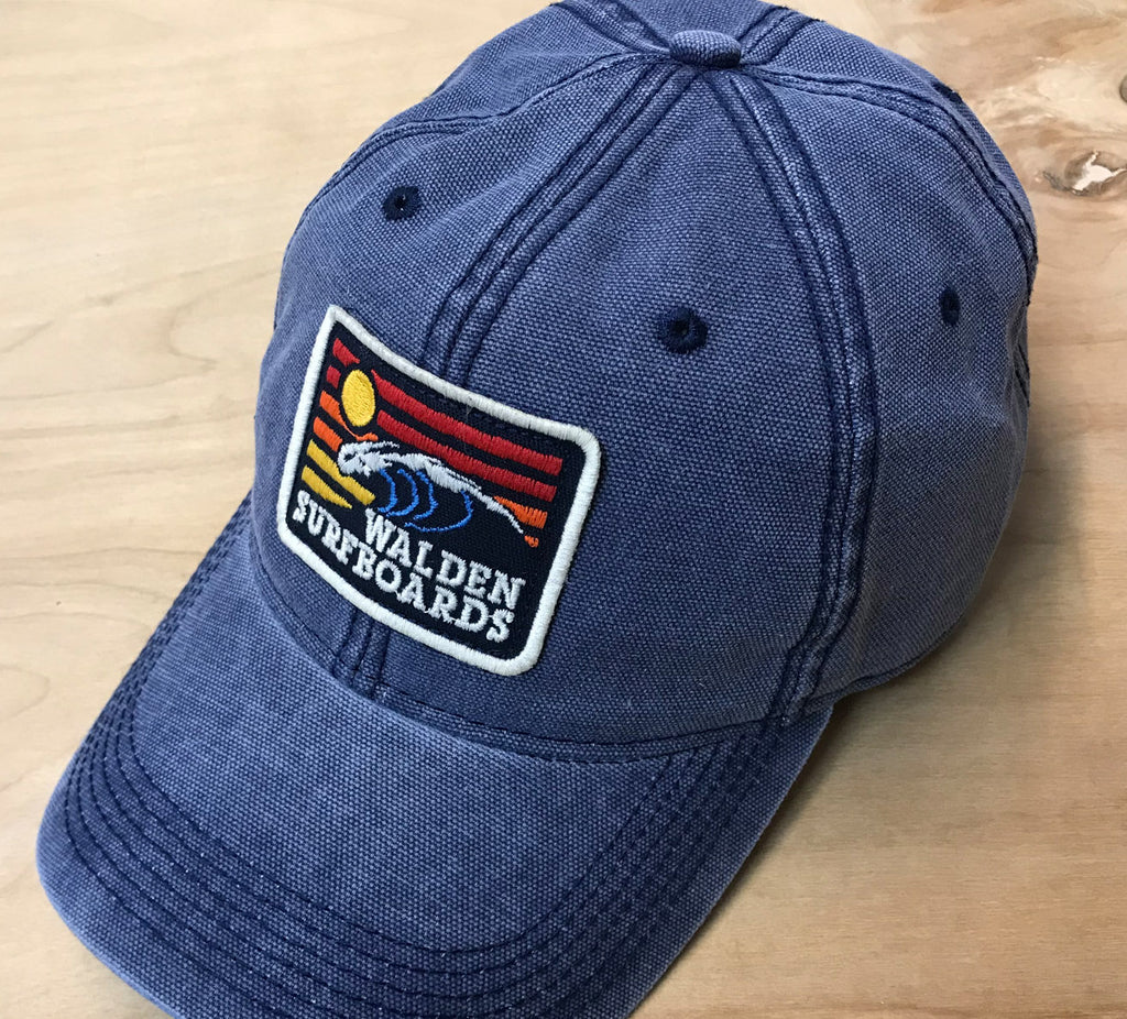 Sunrise wave hat : blue