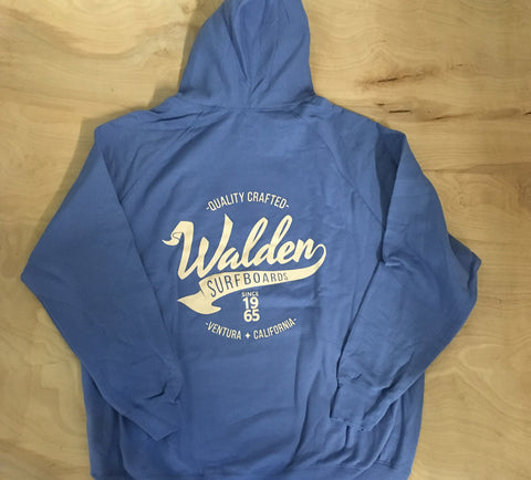 Banner logo lined hoodie:Blue