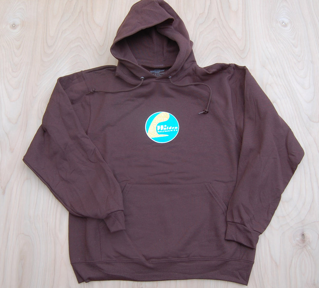 Sale Single Fin Hoodie : Brown