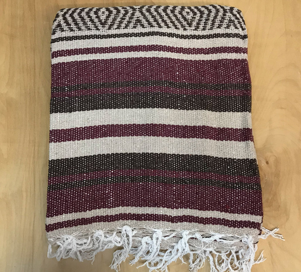 Mexican Blanket: Burgundy black
