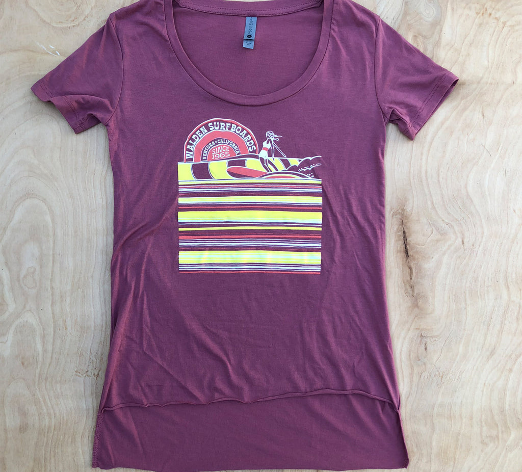 SALE Surf Slide t-shirt: wine