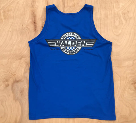 FINAL Sale Performance checker tank: blue