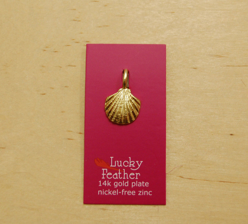 Lucky Feather Charm : Shell