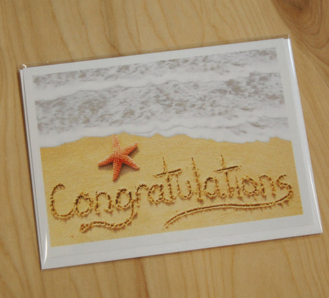Sand Cards : Congratulations