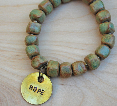 Sale Simbi clay bead bracelet : copper