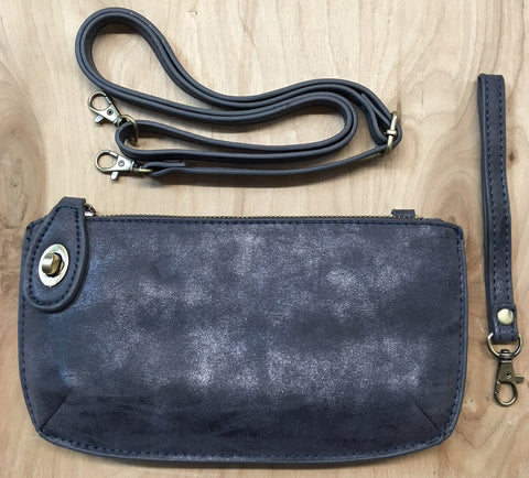 Wristlet clutch : Blue Lux