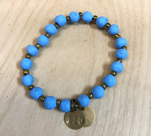 Simbi clay bead bracelet : blue