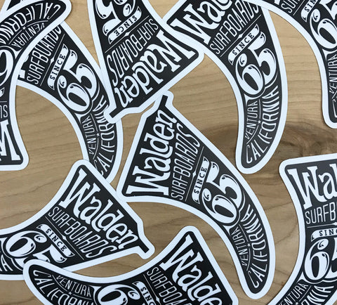 Walden big Fin Sticker pack