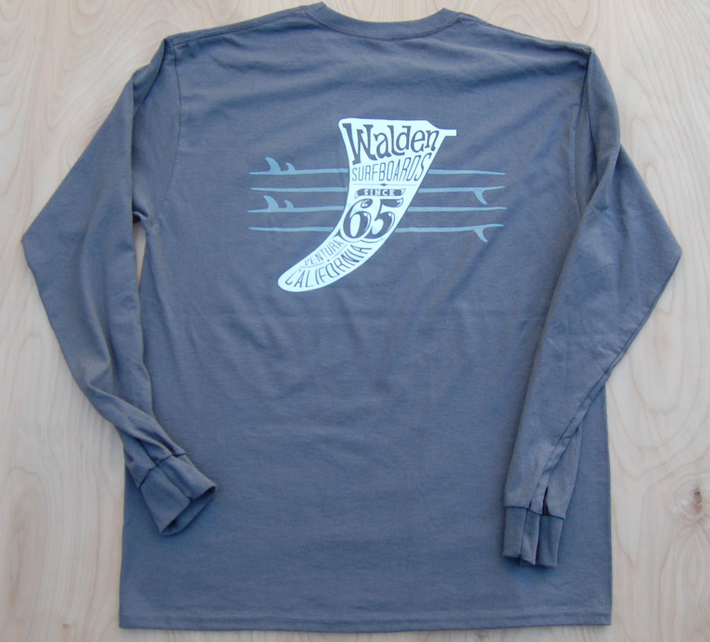 Quiver & Fins Long Sleeve: Grey
