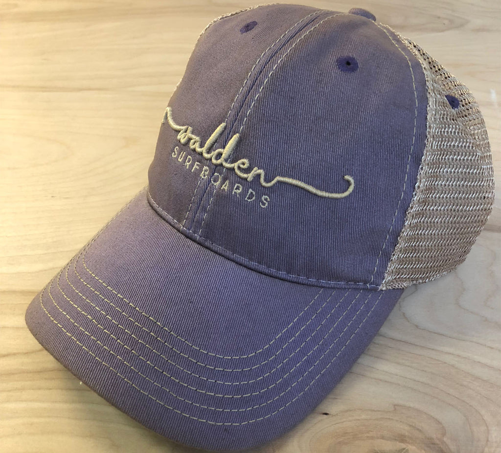 Sale Simple Script Trucker : Vintage purple
