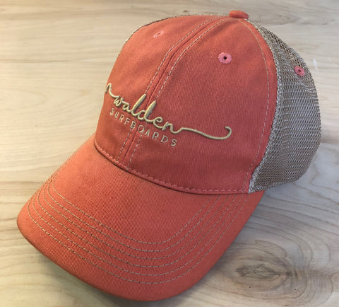 Sale Simple Script Trucker : Vintage orange