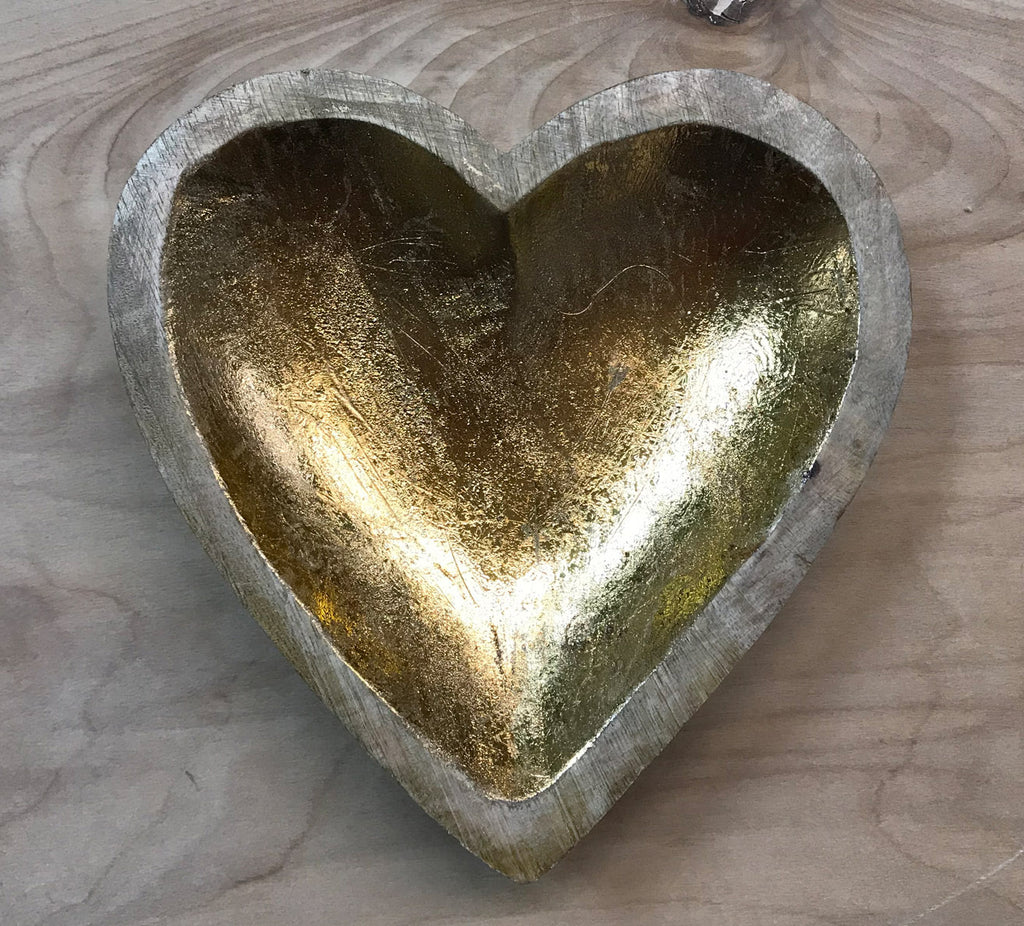 Mango Wood heart tray