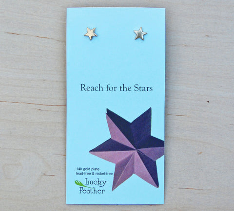Lucky Feather Earrings : Star