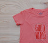 SALE Good Vibes t-shirt : Pumpkin