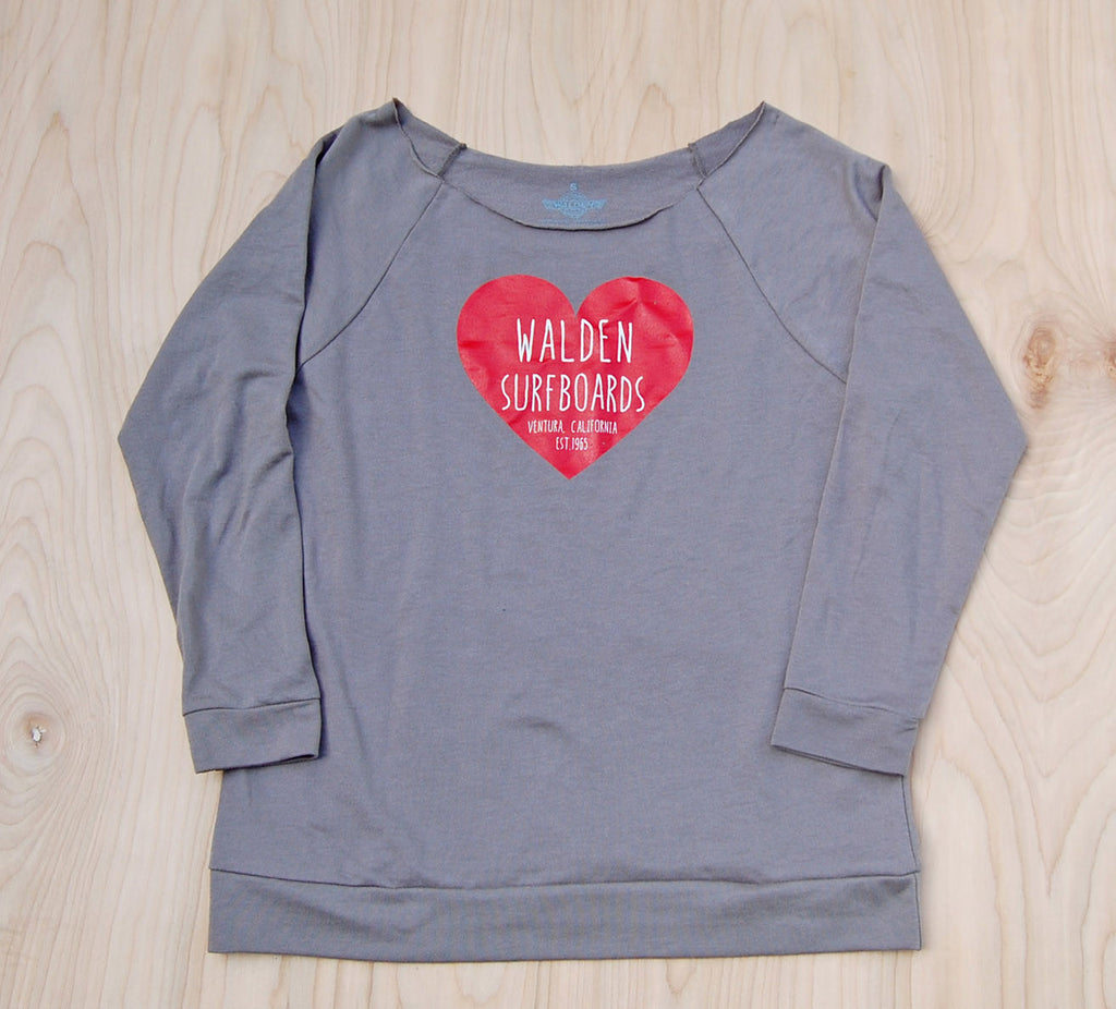 Sale Heart 3/4 sleeve : Gray