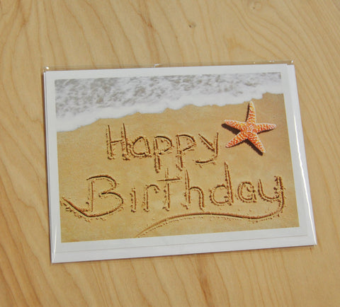 Sand Cards : Happy Birthday