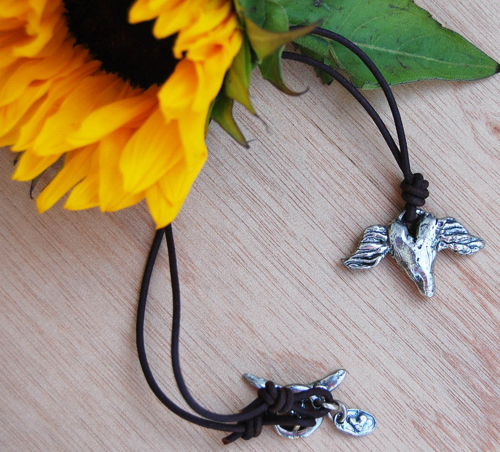 SALE Island Cowgirl Wings Necklace