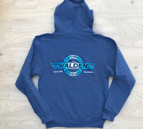 Performance logo zip hoodie -heather blue